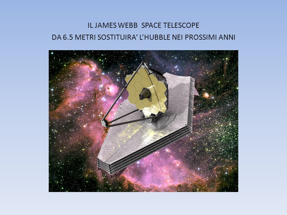 IL JAMES WEBB SPACE TELESCOPE DA 6