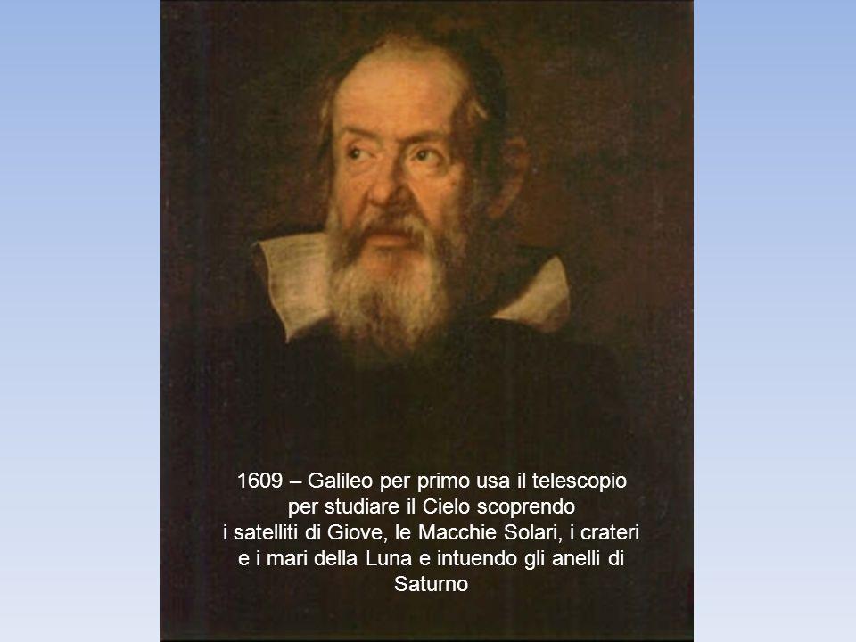 1609 – Galileo per primo usa il telescopio per studiare il Cielo scoprendo