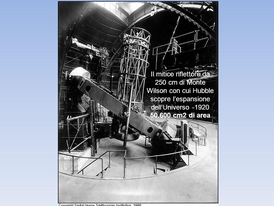 Il mitico riflettore da 250 cm di Monte Wilson con cui Hubble scopre l'espansione dell'Universo -1920