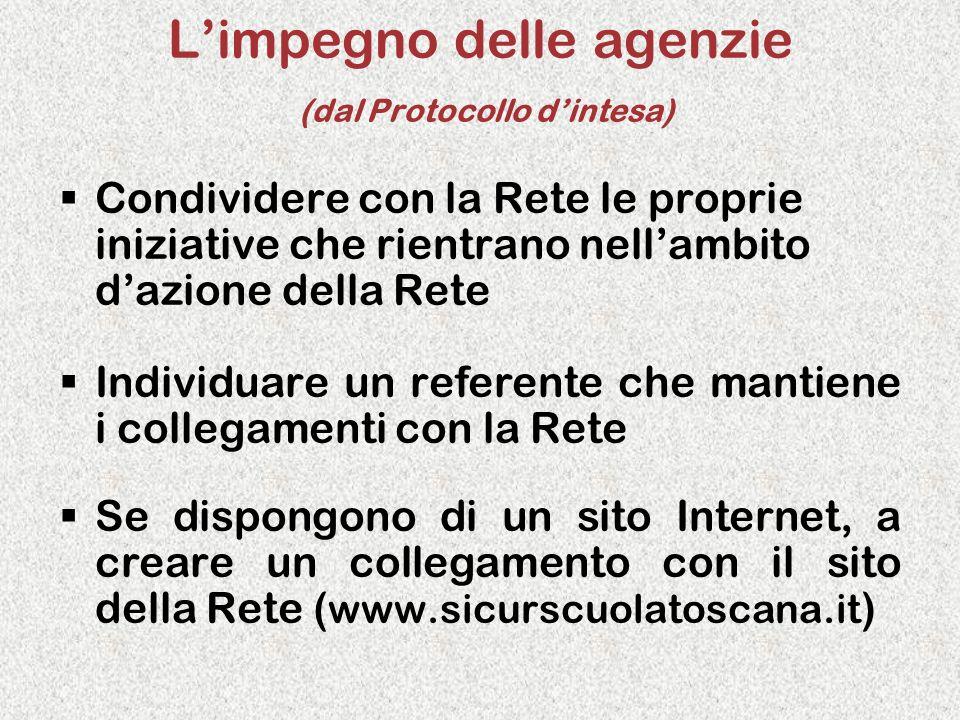 L'impegno delle agenzie (dal Protocollo d'intesa)