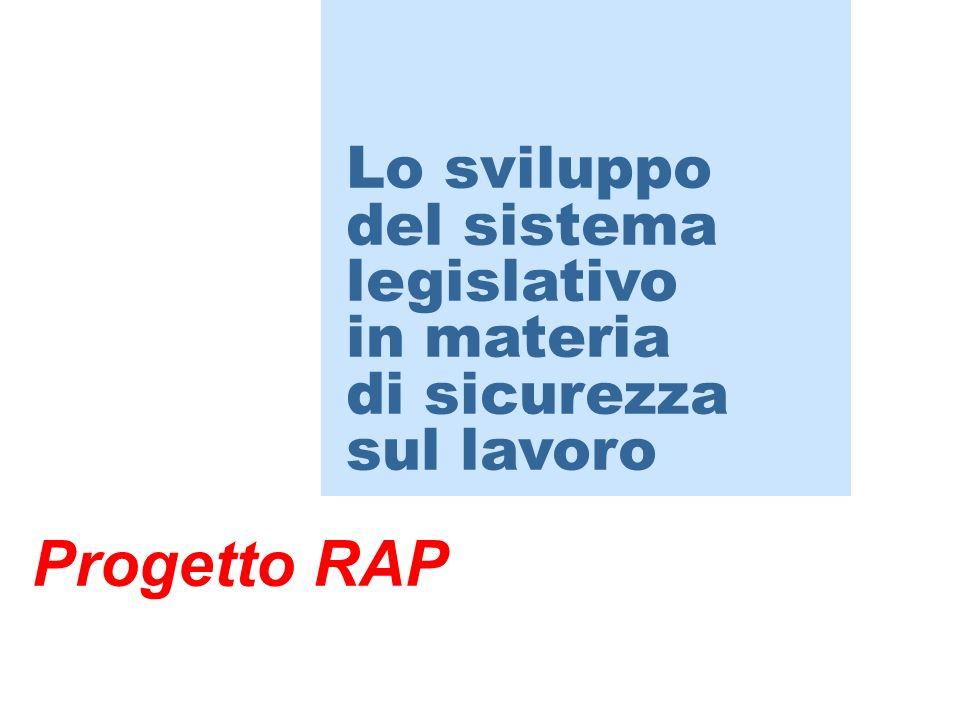 Progetto RAP Lo sviluppo del sistema legislativo in materia