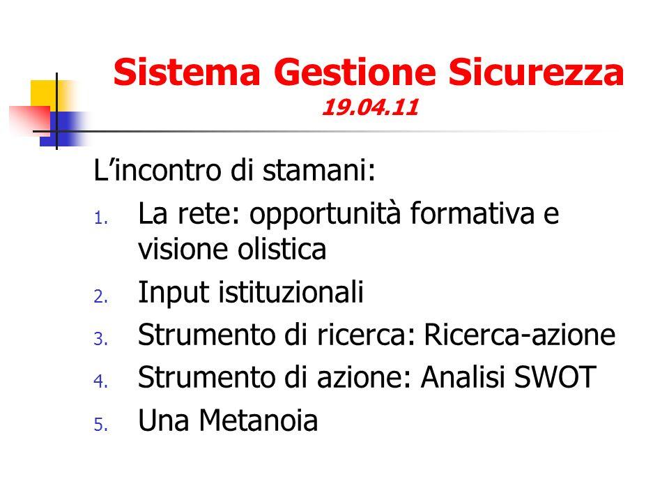 Sistema Gestione Sicurezza 19.04.11