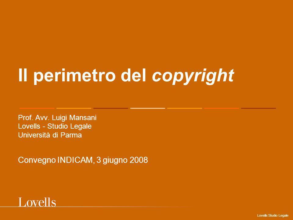 Il perimetro del copyright