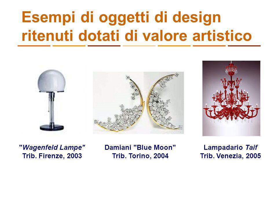 Esempi di oggetti di design ritenuti dotati di valore artistico