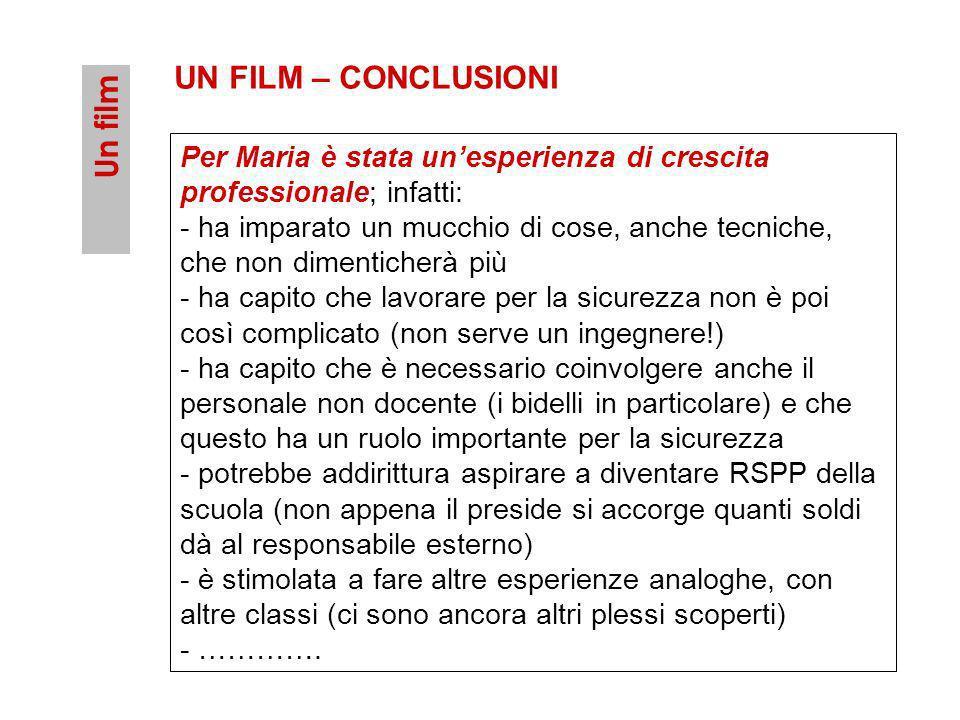 UN FILM – CONCLUSIONI Un film