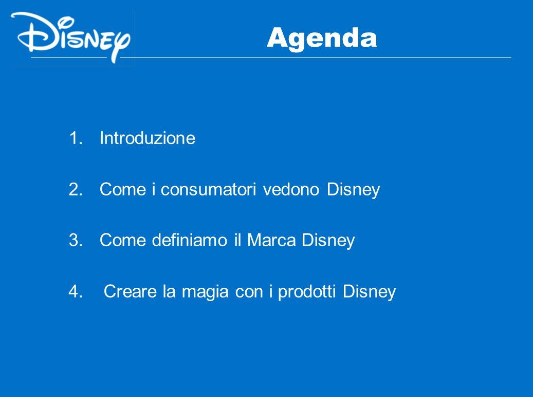 Agenda Introduzione Come i consumatori vedono Disney