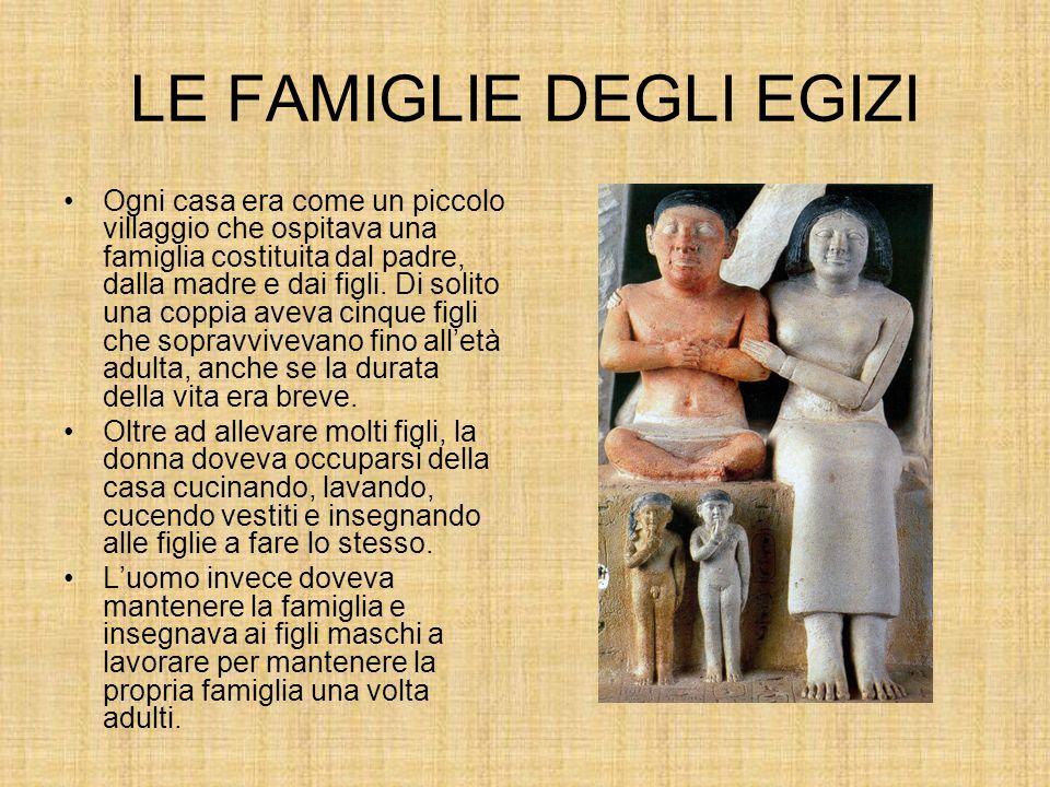 LE FAMIGLIE DEGLI EGIZI