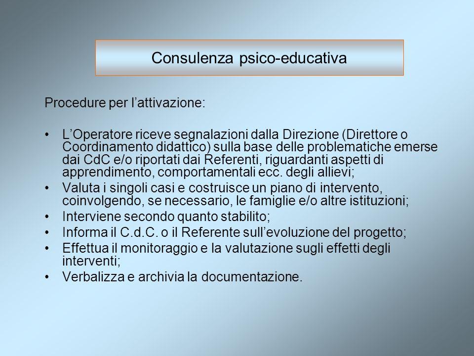 Consulenza psico-educativa