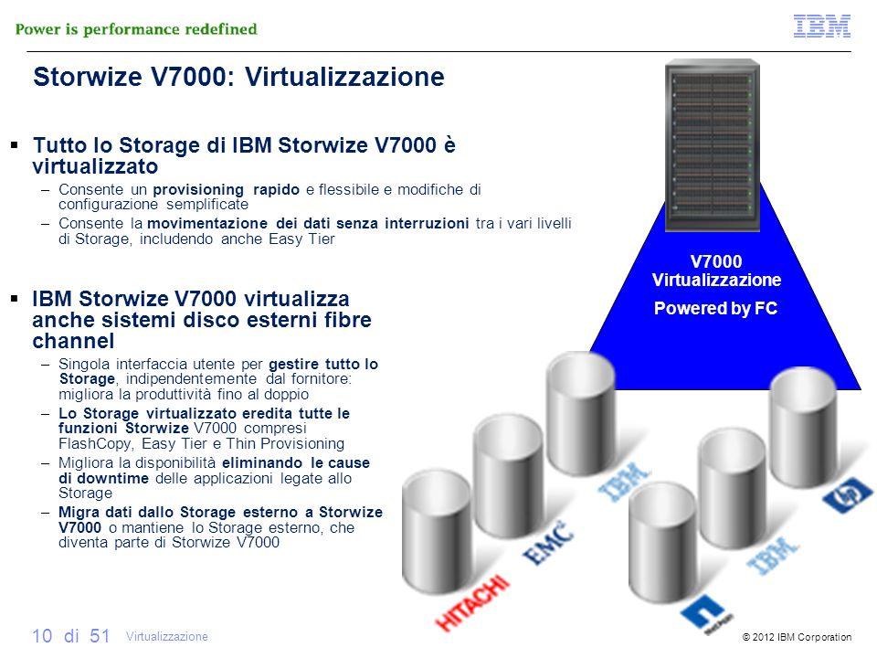 Storwize V7000: Virtualizzazione