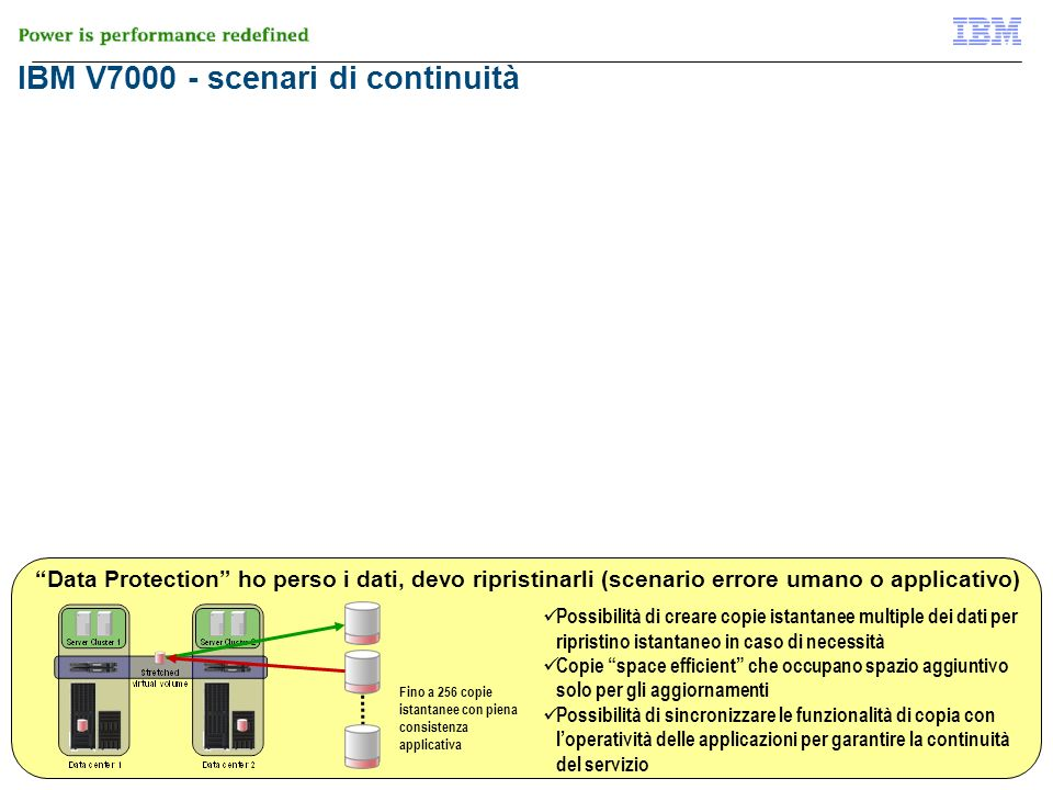 IBM V7000 - scenari di continuità