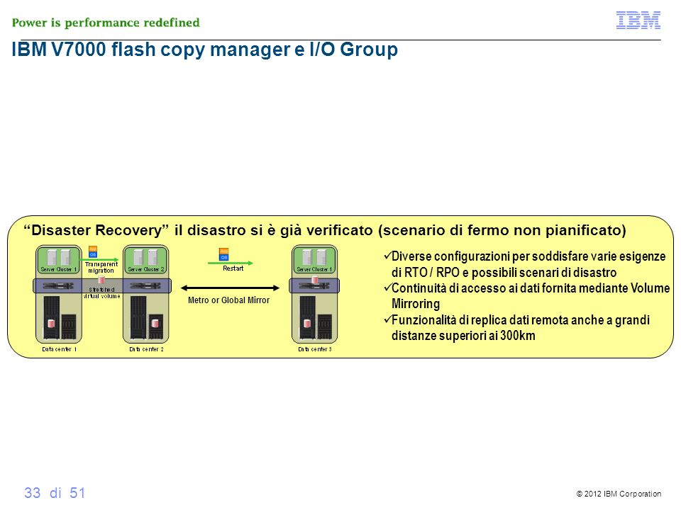V7000 Global Mirror IBM V7000 flash copy manager e I/O Group