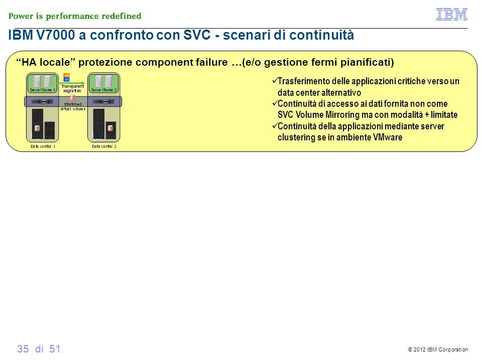 IBM V7000 a confronto con SVC - scenari di continuità