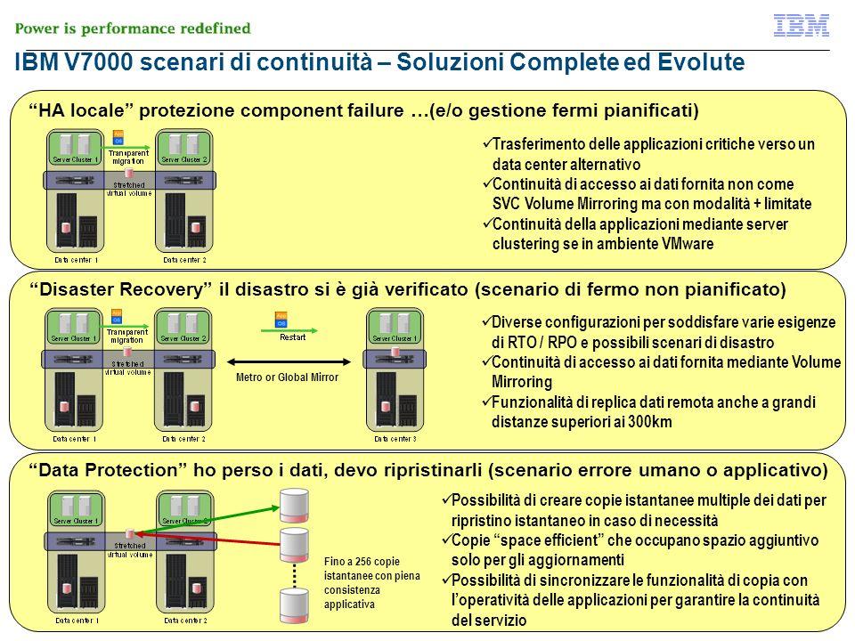 IBM V7000 scenari di continuità – Soluzioni Complete ed Evolute