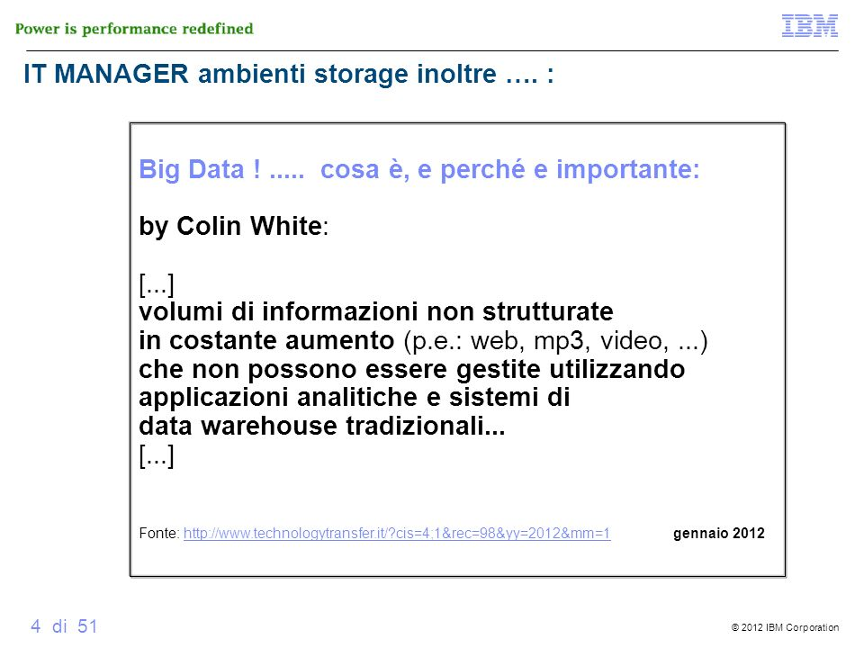 IT MANAGER ambienti storage inoltre …. :