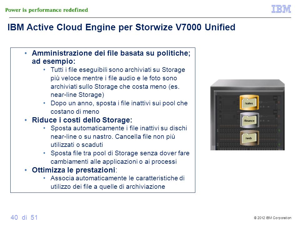 IBM Active Cloud Engine per Storwize V7000 Unified