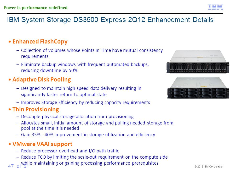 IBM System Storage DS3500 Express 2Q12 Enhancement Details