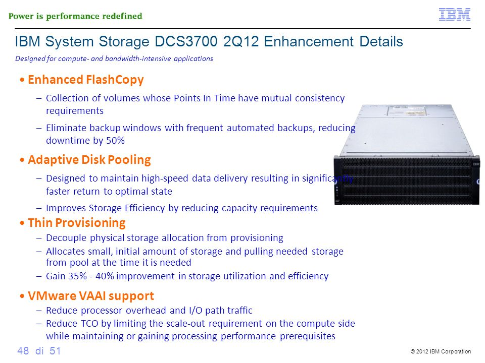 IBM System Storage DCS3700 2Q12 Enhancement Details
