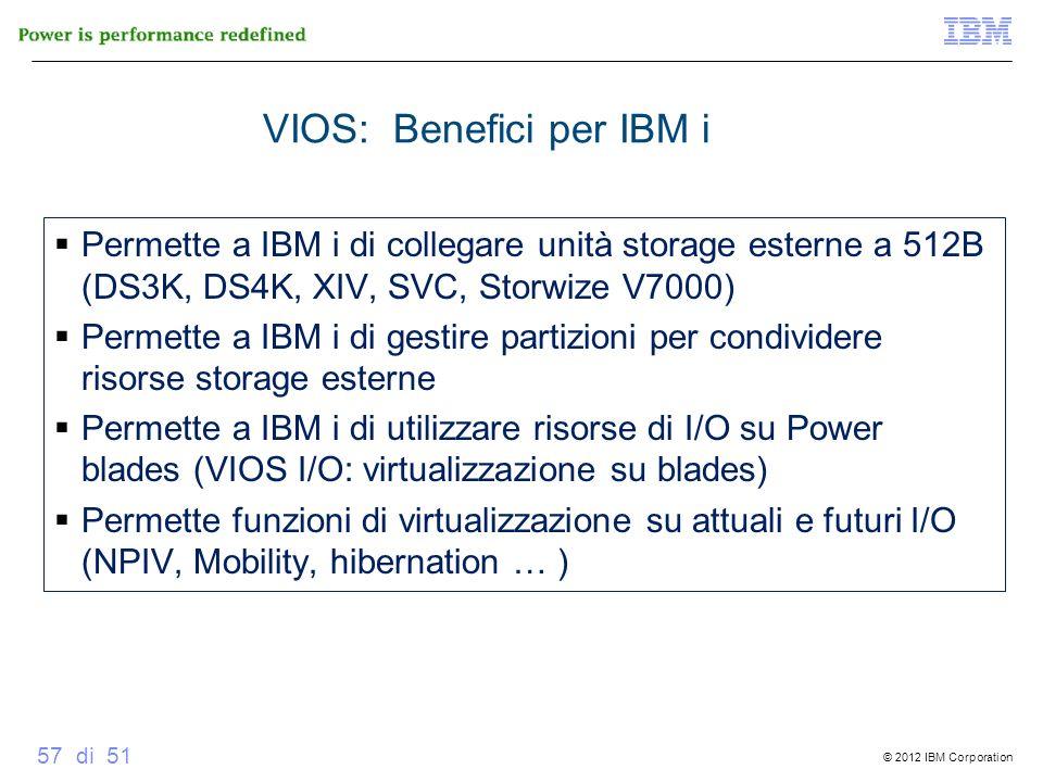 VIOS: Benefici per IBM i