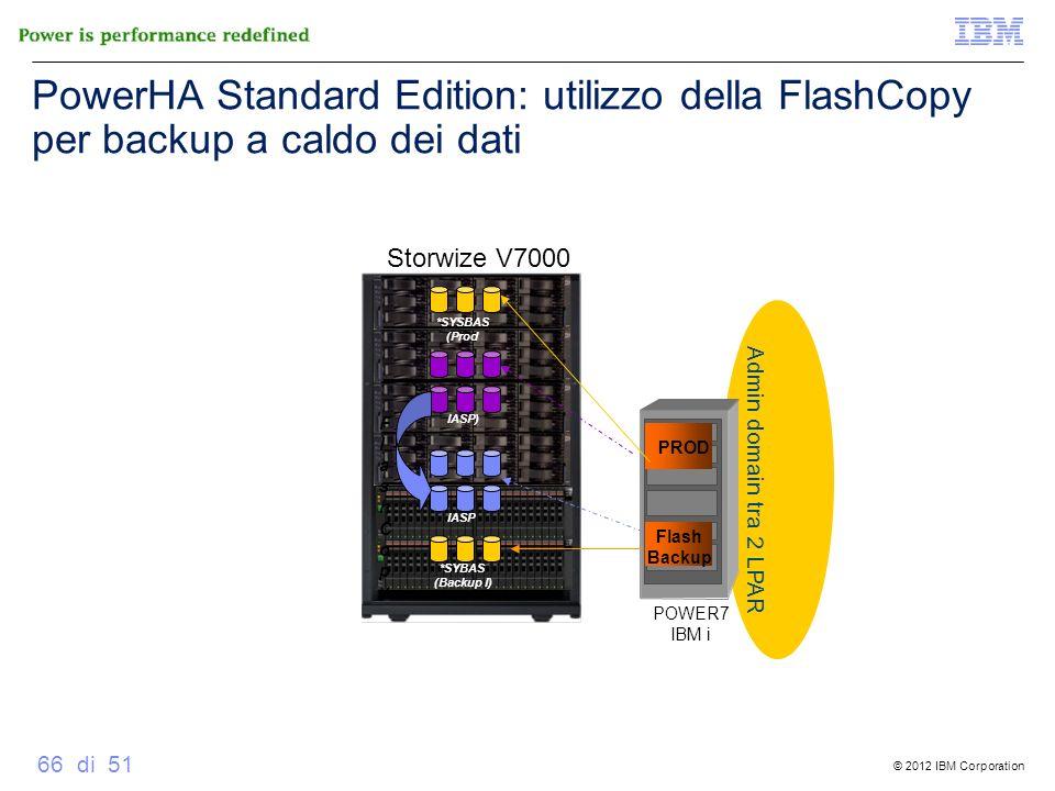 PowerHA Standard Edition: utilizzo della FlashCopy per backup a caldo dei dati