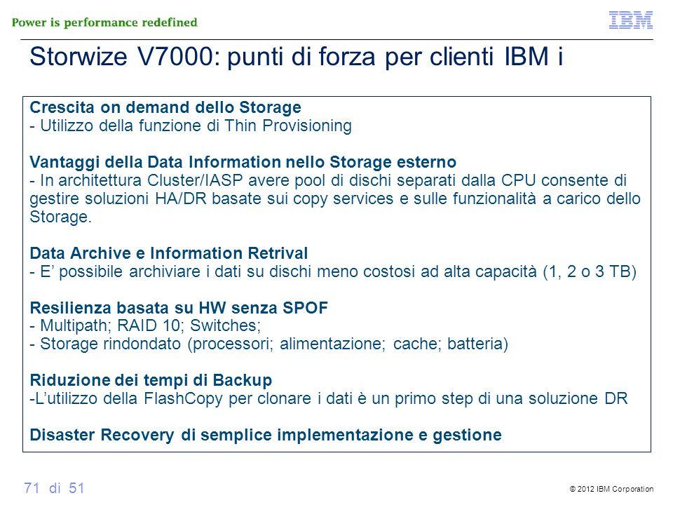 Storwize V7000: punti di forza per clienti IBM i