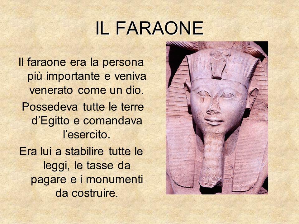 Possedeva tutte le terre d'Egitto e comandava l'esercito.