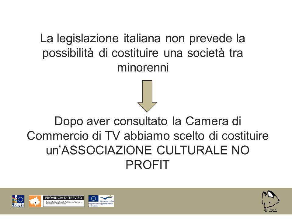 La legislazione italiana non prevede la possibilità di costituire una società tra minorenni