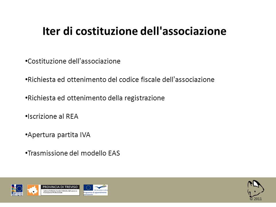 Iter di costituzione dell associazione