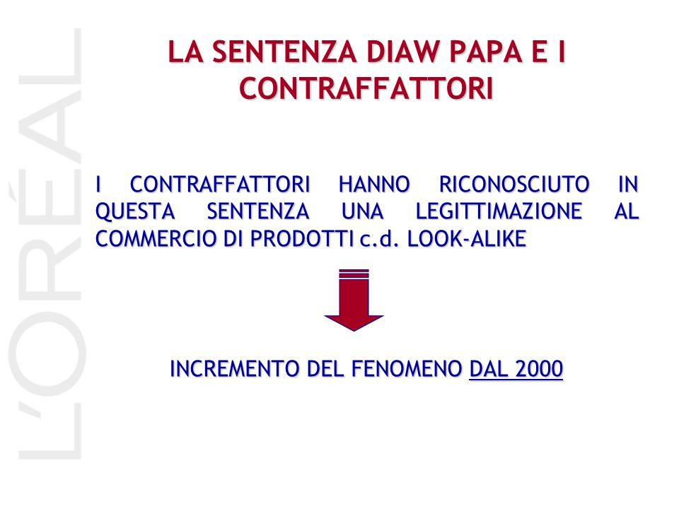LA SENTENZA DIAW PAPA E I CONTRAFFATTORI