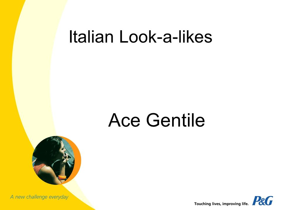 Italian Look-a-likes Ace Gentile