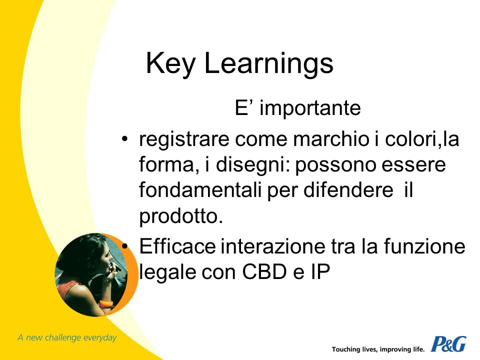 Key Learnings E' importante