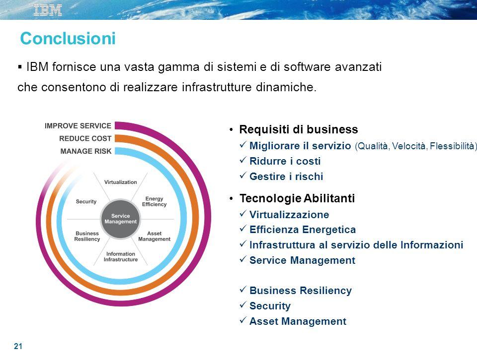3/27/2017 10:03 AM Conclusioni. IBM fornisce una vasta gamma di sistemi e di software avanzati.