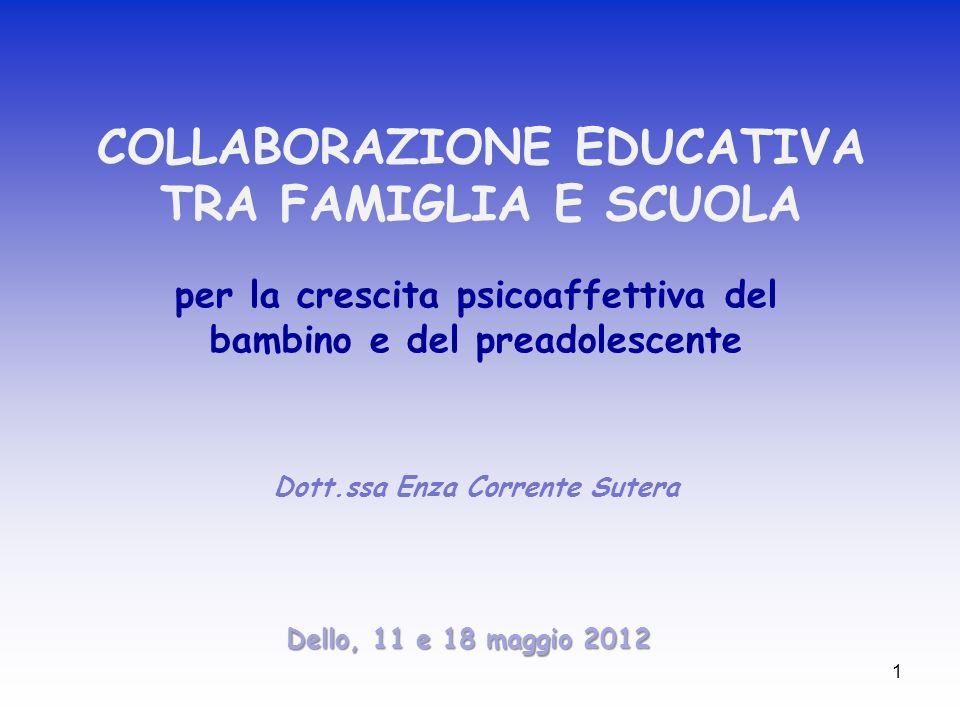 COLLABORAZIONE EDUCATIVA TRA FAMIGLIA E SCUOLA