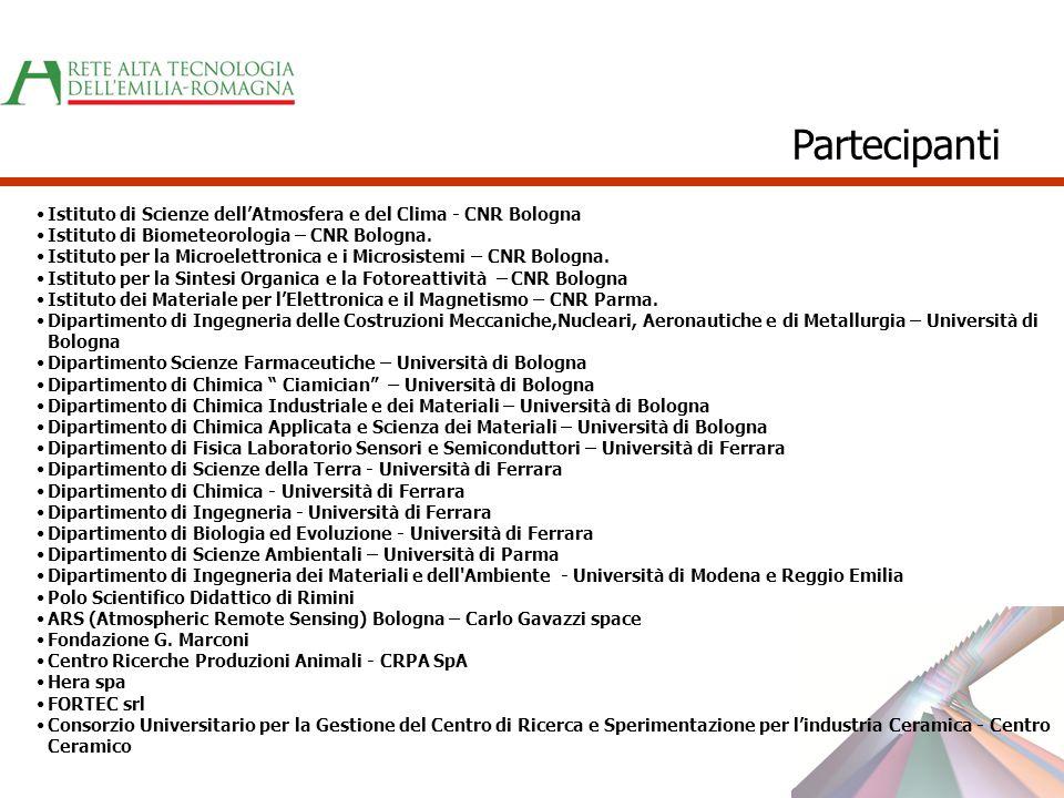 Partecipanti Istituto di Scienze dell'Atmosfera e del Clima - CNR Bologna. Istituto di Biometeorologia – CNR Bologna.