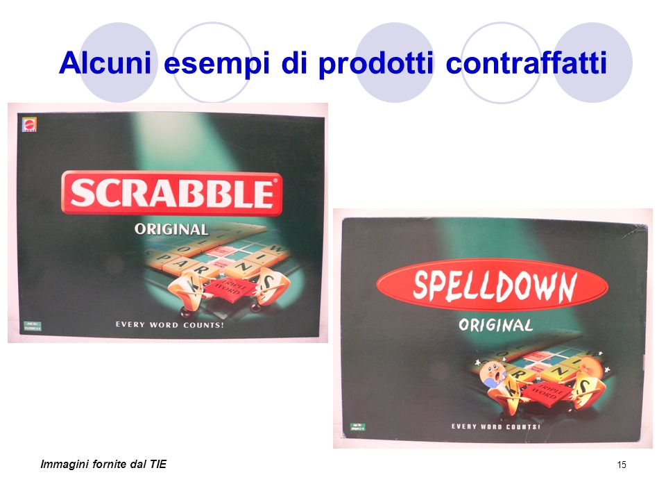 Alcuni esempi di prodotti contraffatti