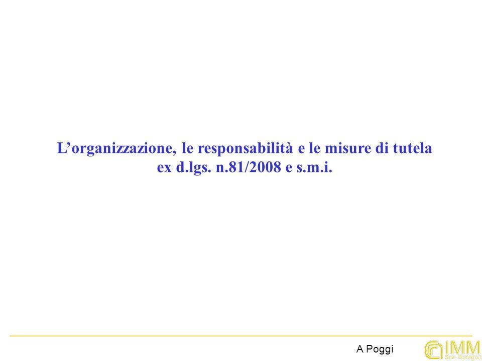 L'organizzazione, le responsabilità e le misure di tutela ex d. lgs. n