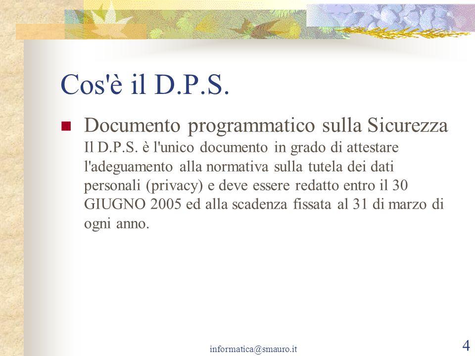 Cos è il D.P.S.