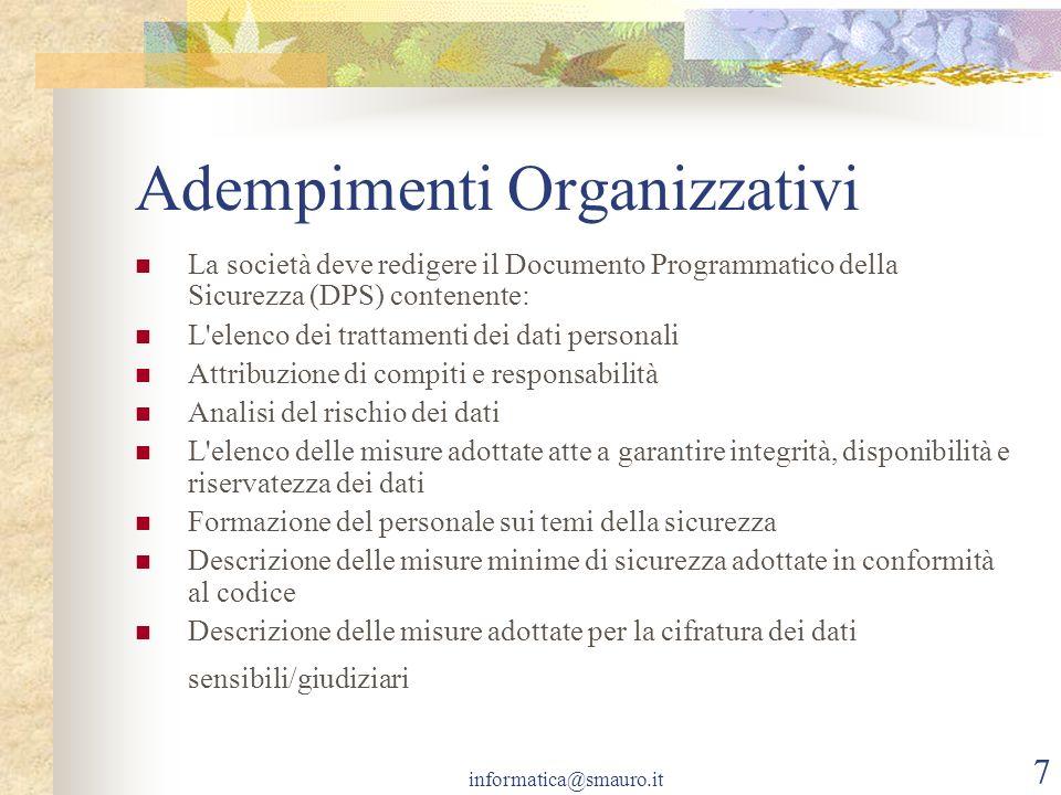 Adempimenti Organizzativi