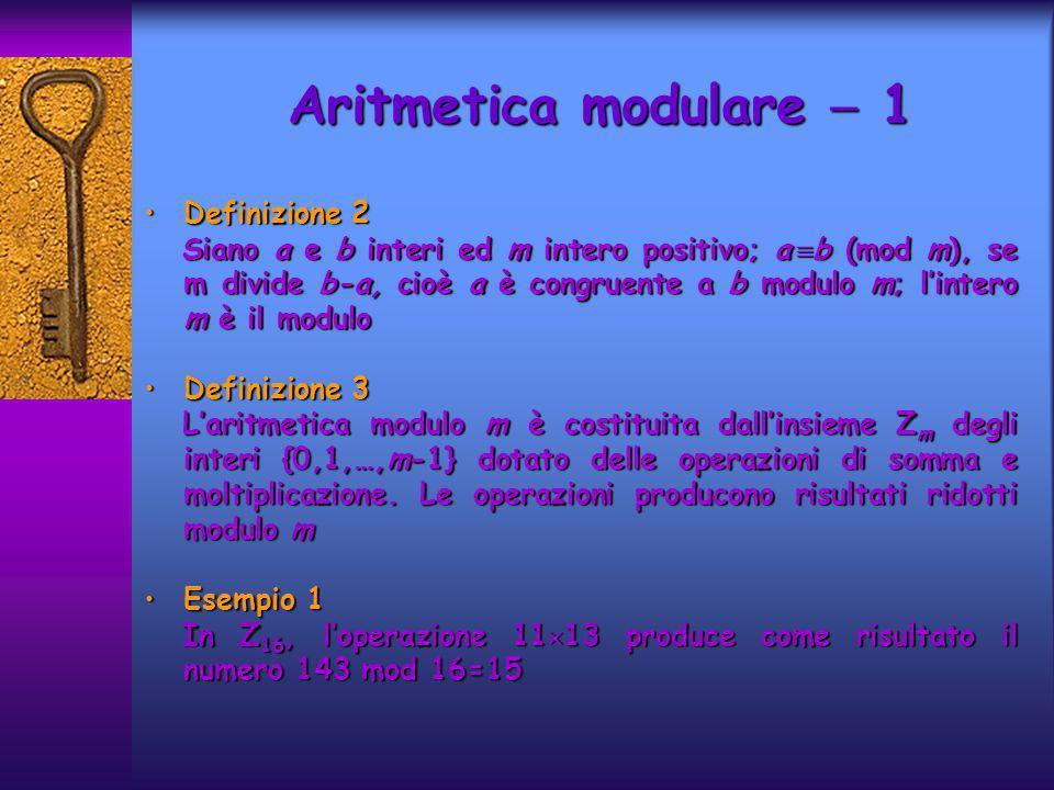 Aritmetica modulare  1 Definizione 2