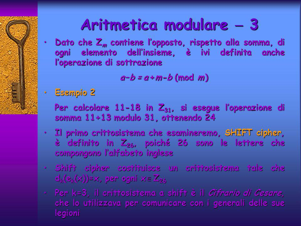 Aritmetica modulare  3