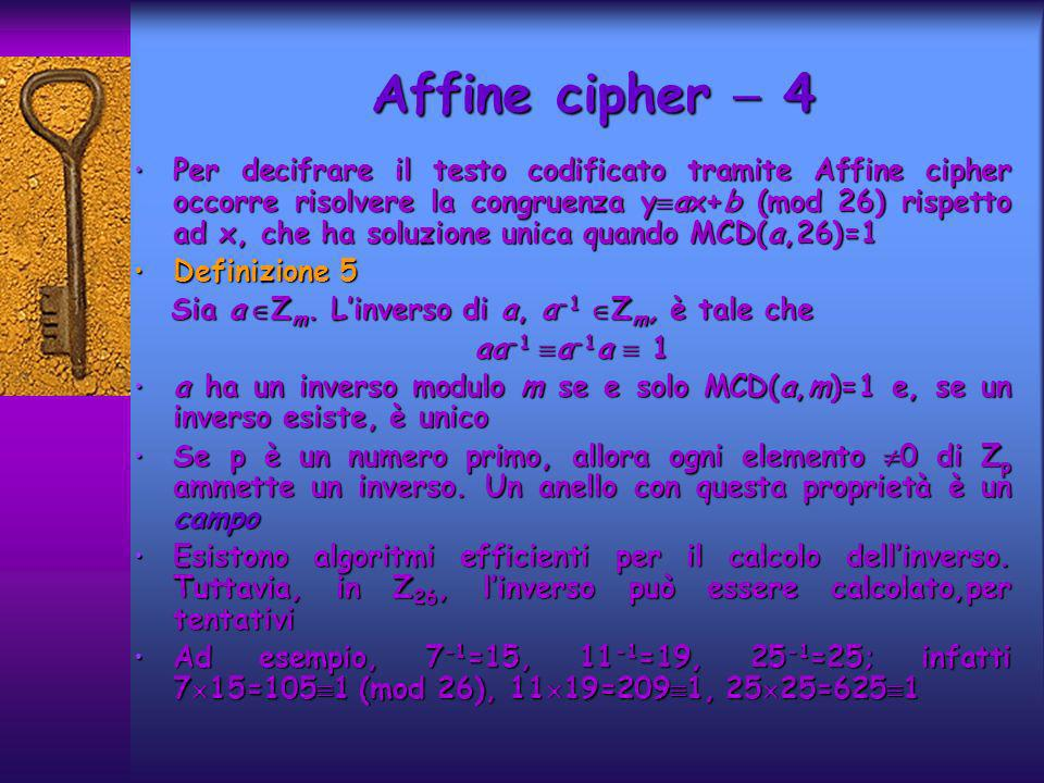 Affine cipher  4