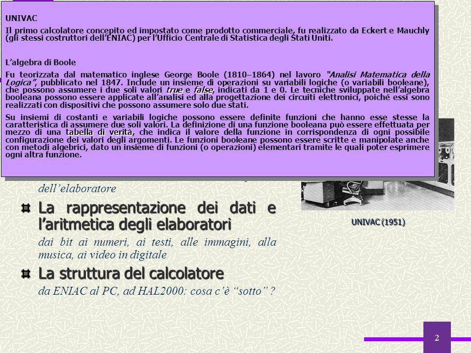 Sommario L'algebra di Boole Sistemi di numerazione