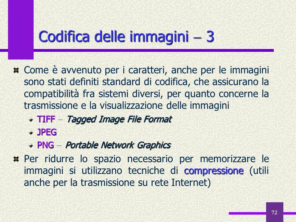 Codifica delle immagini  3