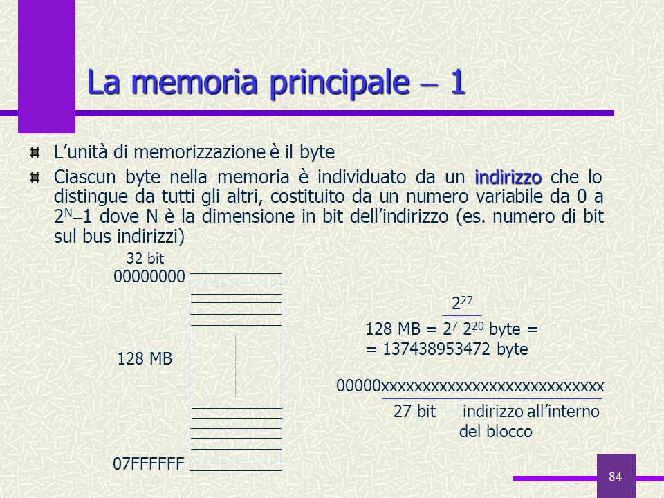 La memoria principale  1
