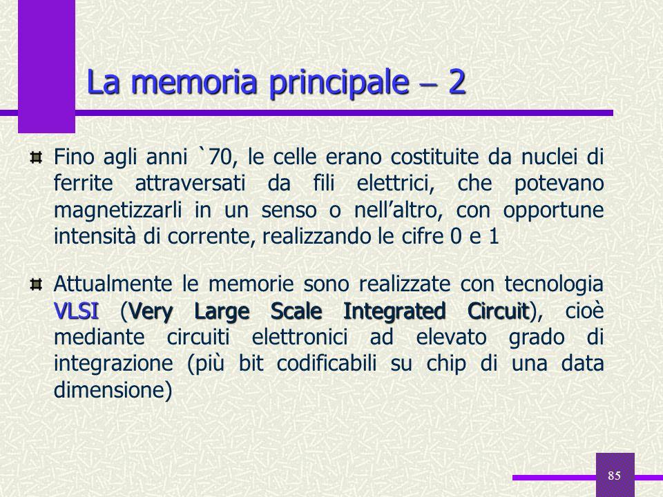 La memoria principale  2