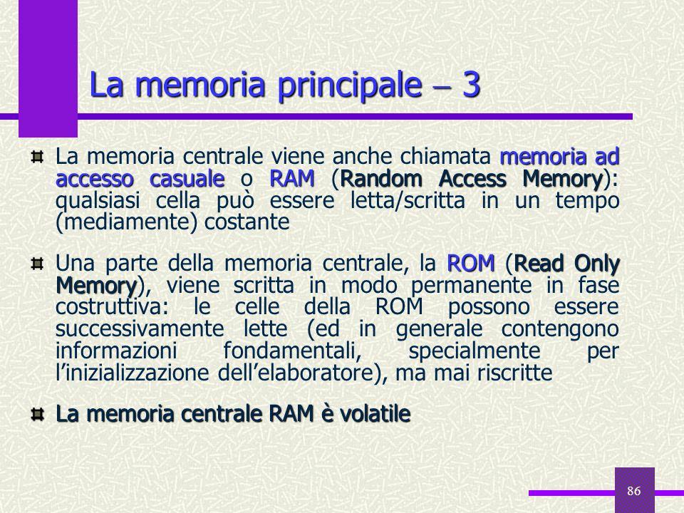 La memoria principale  3