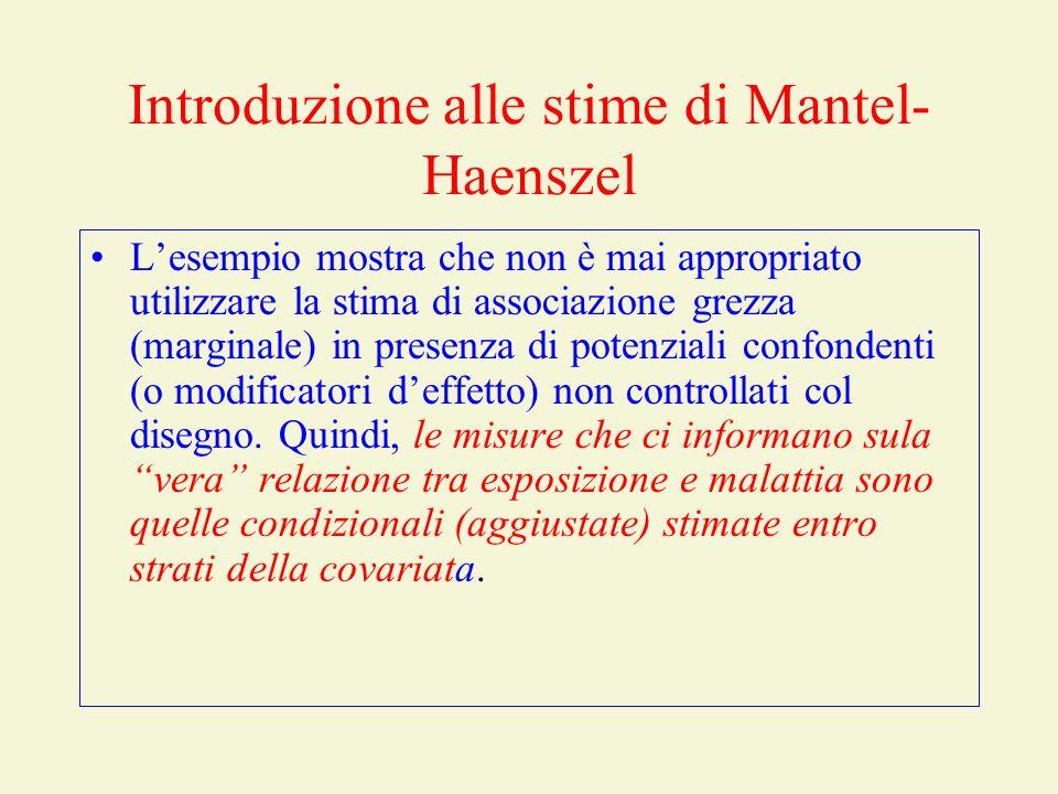 Introduzione alle stime di Mantel-Haenszel