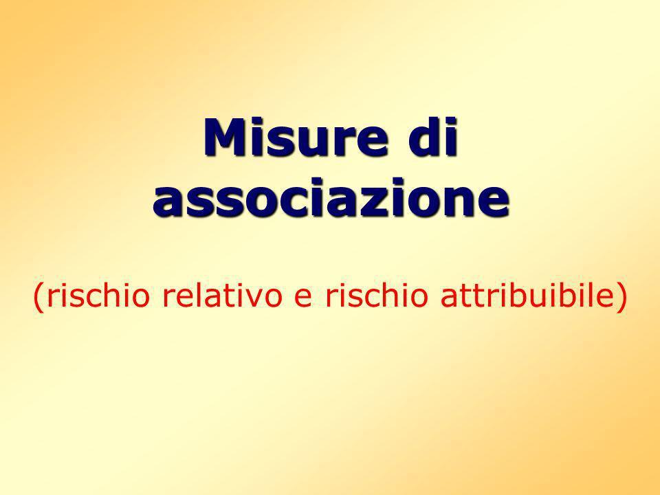 Misure di associazione (rischio relativo e rischio attribuibile)