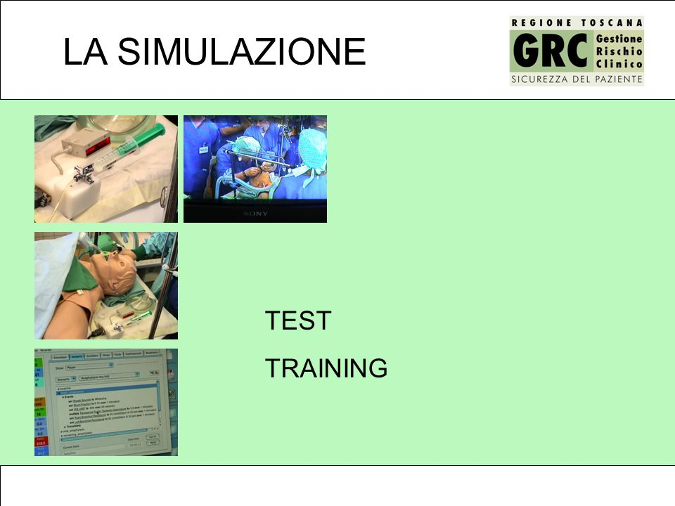 LA SIMULAZIONE TEST TRAINING