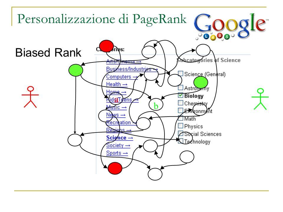 Personalizzazione di PageRank
