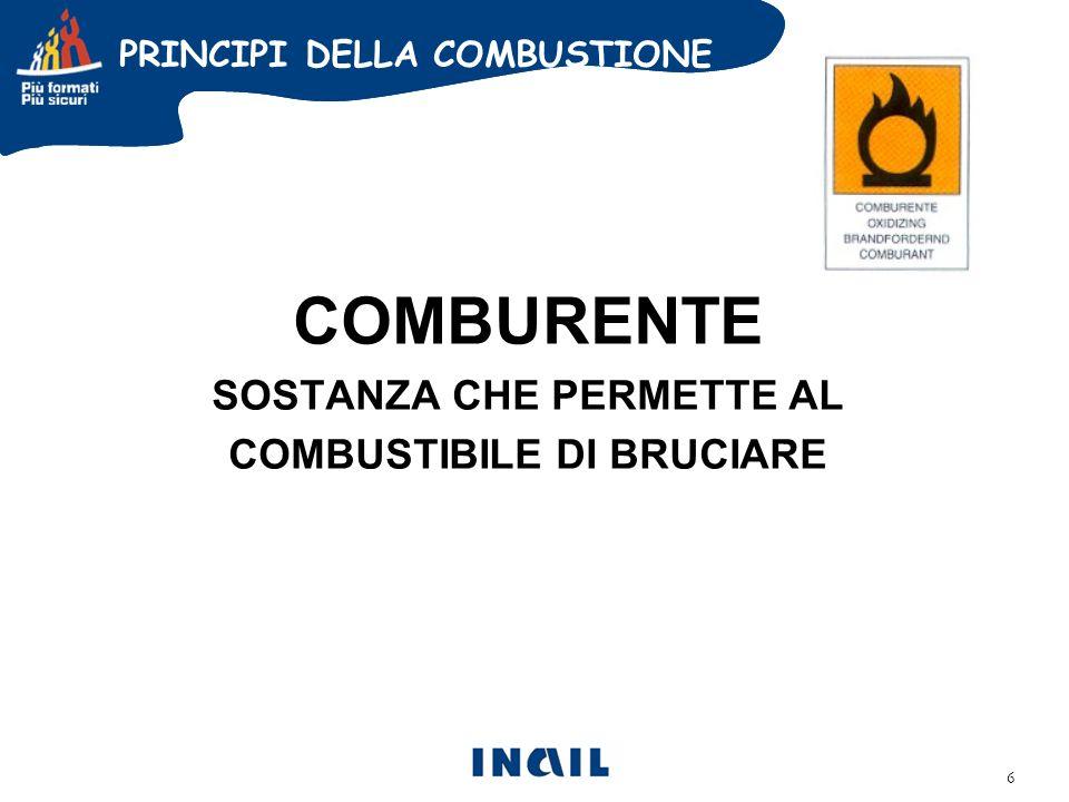 COMBURENTE SOSTANZA CHE PERMETTE AL COMBUSTIBILE DI BRUCIARE